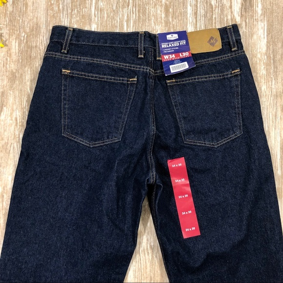 Member/'s Mark Relaxed Fit Dark Wash Blue Jeans Men/'s Pants